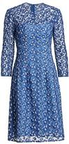 Lela Rose Holly Floral-Embroidered Dress