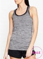 Nike Dri Fit Knit Running Tank -Grey/Black