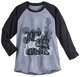 Disney Mickey Mouse Rock 'n Roller Coaster Long Sleeve Raglan Tee for Women