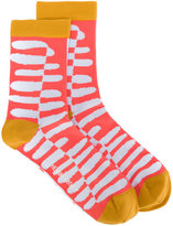 Henrik Vibskov printed socks - women - Cotton/Spandex/Elastane - One Size