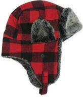 Hudson North Buffalo Check Faux Fur Trapper Hat