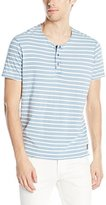 Calvin Klein Jeans Men's Short Sleeve Wash Stripe Henley Shirt