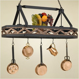 Hi-Lite Sonoma 8 Sided Hanging Pot Rack with 2 Lights