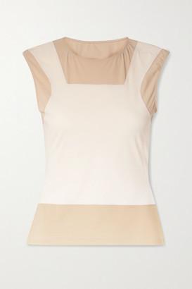 MM6 MAISON MARGIELA Trompe-l'ail Color-block Stretch-jersey Top - White