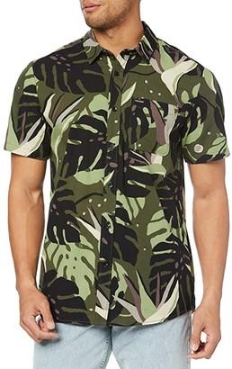 Volcom Mentawais Short Sleeve (Military) Men's Short Sleeve Button Up
