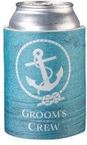 Lillian Rose Coastal Beach Groom's Crew Can Cup Cozy Keepsake