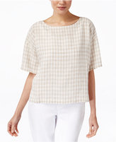 Eileen Fisher Printed Short-Sleeve Top