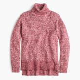 J.Crew Marled Italian wool blend turtleneck sweater