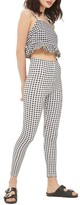 Topshop Women's Gingham Leggings