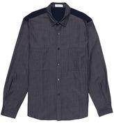 TOMORROWLAND Knit panel denim shirt