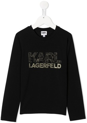 Karl Lagerfeld Paris Glitter Logo Sweatshirt
