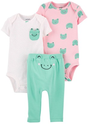 Carter's BabyGirl 3-Piece Frog Little Character Set
