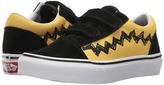 Vans Kids Old Skool V x Peanuts Charlie Brown/Black) Kids Shoes