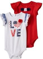 Baby Starters Baby Girl 2-pk. Patriotic Bodysuits