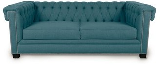 Loni M Designs Foster Chesterfield Sofa Upholstery: Azure