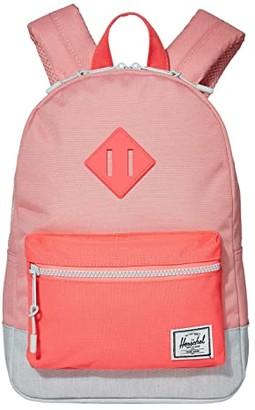 Herschel Supply Co. Kids Heritage Kids Backpack (Little Kids/Big Kids) (Peony/Neon Pink/Ballad Blue Pastel Crosshatch) Backpack Bags