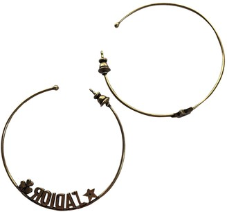 Christian Dior Gold Metal Earrings