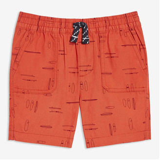 Joe Fresh Baby Boys' Print Cotton Shorts, Dusty Orange (Size 6-12)