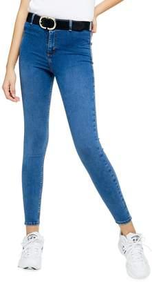 Topshop Belted Loop Joni Jeans 34-Inch Leg
