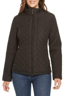 Weatherproof Quilted Stand Collar Jacket