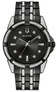Bulova Men's Two-Tone Stainless Steel & Crystal Bracelet Watch 42mm Gift Set