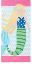 Pottery Barn Kids Mermaid Kid Beach Towel, Yellow