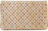 Christian Louboutin Loubiposh Studded Metallic Raffia Clutch - Gold