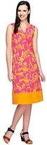 As Is Liz Claiborne New York Regular Border Print Knit Dress