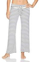 Eberjey Women's Lounge Stripes Wide Leg Pant