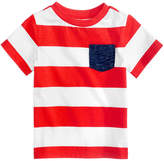 First Impressions Rugby-Striped Cotton T-Shirt, Baby Boys, Created for Macy's