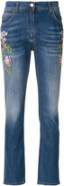 Etro embroidered flower jeans - women - Cotton/Polyester/Spandex/Elastane - 26