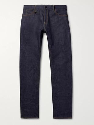 Moncler Genius 7 Fragment Embroidered Selvedge Denim Jeans