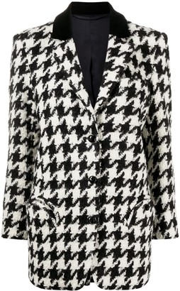 BLAZÉ MILANO Dogtooth Single-Breasted Blazer