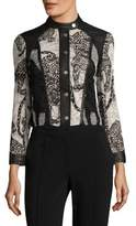 Yigal Azrouel Cheetah Embroidered Lace Jacket