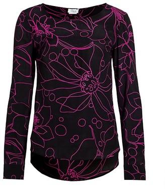 Akris Punto Shashikio Flower Silk Blouse