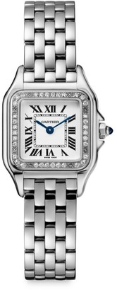 Cartier Panthere de Small Stainless Steel & Diamond Bracelet Watch