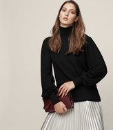 Reiss Caroline - Wool Roll-neck Jumper in Black, Womens