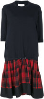 3.1 Phillip Lim check hem sweatshirt dress - women - Cotton - S