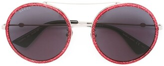 Gucci Aviator Metal Temple Sunglasses