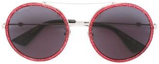 Gucci aviator metal temple sunglasses