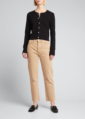RE/DONE 50s Cropped Button-Front Cardigan