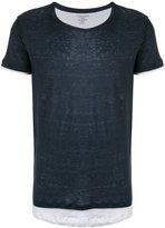 Majestic Filatures layered T-shirt - men - Cotton/Linen/Flax - XL