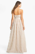 Adrianna Papell Strapless Soutache Gown