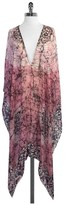 Lotta Stensson Pink & Black Print Silk Coverup