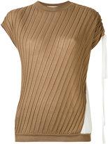 Marni ribbed asymmetric top - women - Silk/Cotton - 40