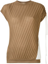 Marni ribbed asymmetric top