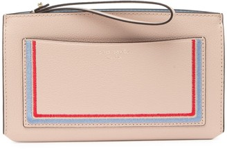 Kate Spade Leather Eva Embroidered Wallet Clutch