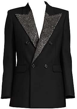 dbac8431 Saint Laurent Women's Crystal Lapel Tuxedo Jacket