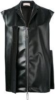 Marni oversized flap detail gilet - women - Polyester/Polyurethane - 40