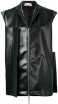 Marni oversized flap detail gilet - women - Polyester/Polyurethane - 44